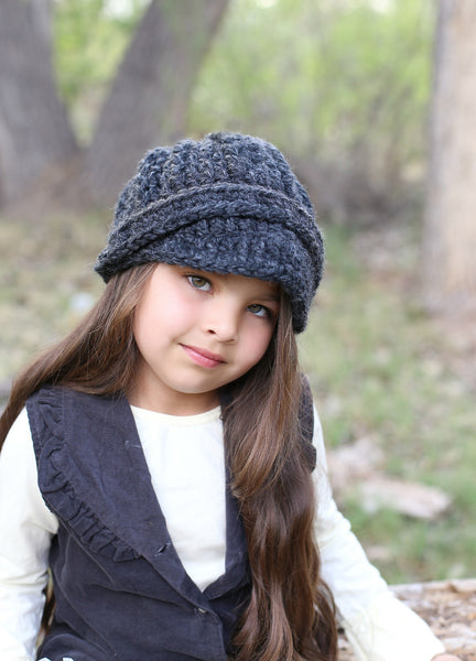 4T to Preteen Kids Charcoal Gray Buckle Beanie