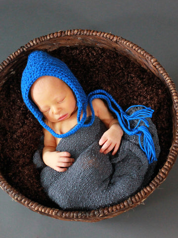Cobalt Blue Pixie Elf Baby Hat by Two Seaside Babes