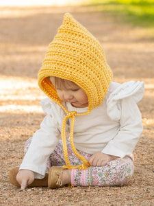 Golden yellow pixie elf hat by Two Seaside Babes