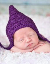Purple Pixie Elf Baby Hat