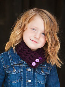 1T to 4T Toddler Purple Eggplant Button Scarf by Two Seaside Babes