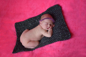 Charcoal Sparkle Itty Bitty Baby Blanket