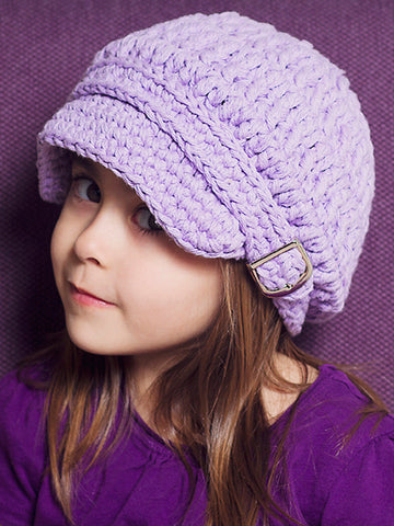2T to 4T Lavender Buckle Newsboy Cap by Two Seaside Babes