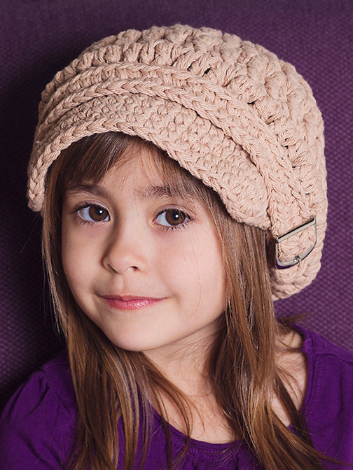 2T to 4T Khaki Buckle Newsboy Cap by Two Seaside Babes