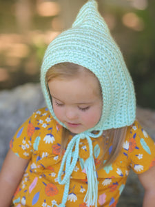 Baby green pixie elf hat by Two Seaside Babes