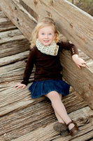 1T to 4T Toddler Wheat Button Scarf