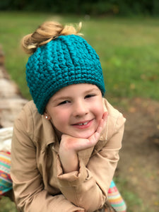 32 colors messy bun ponytail beanie winter hat by Two Seaside Babes