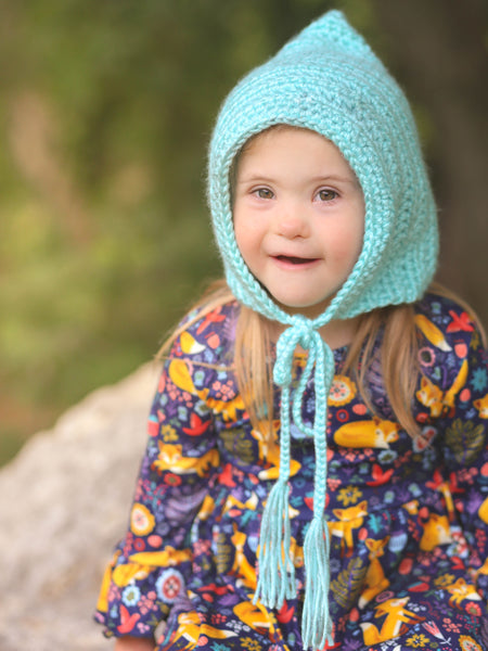 Robin's egg blue pixie elf hat by Two Seaside Babes