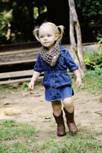 1T to 4T Toddler Barn Wood Brown Button Scarf