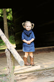 1T to 4T Toddler Denim Twist Button Scarf