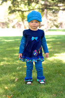 1T to 2T Bright Blue Buckle Newsboy Cap