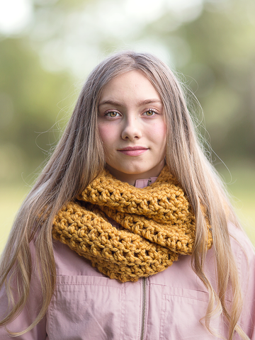 Mustard infinity cowl winter scarf by Two Seaside Babes