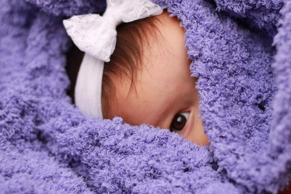 Purple grape soft and fluffy crochet baby blanket