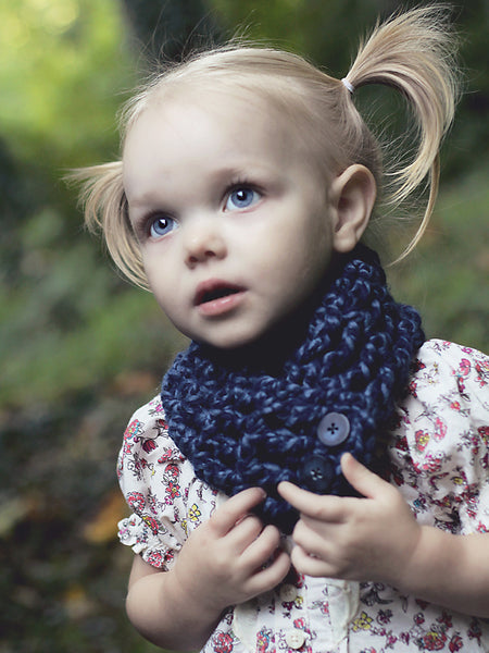 1T to 4T Toddler Denim Twist Button Scarf by Two Seaside Babes