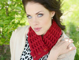 Adult Cranberry Red Button Scarf