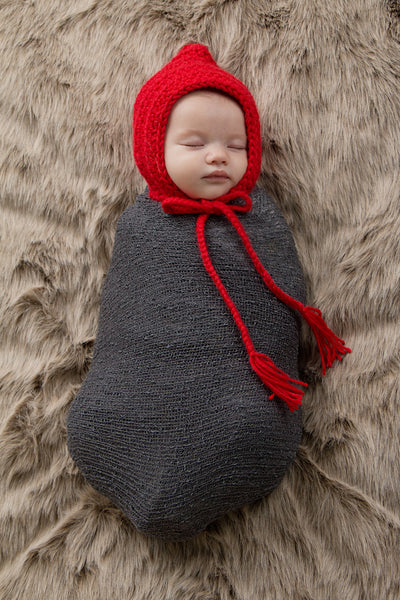 Red Pixie Elf Baby Hat