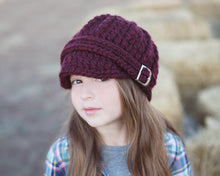 4T to Preteen Kids Red Wine Buckle Beanie