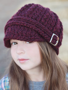4T to Preteen Kids Red Wine Buckle Beanie by Two Seaside Babes