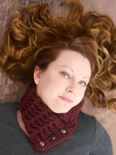 Adult Red Wine Button Scarf by Two Seaside Babes