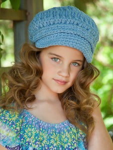 4T to Preteen Light Blue Buckle Newsboy Cap by Two Seaside Babes