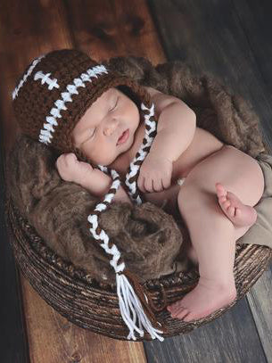 Football Earflap Hat by Two Seaside Babes
