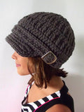 4T to Preteen Elephant Gray Buckle Newsboy Cap by Two Seaside Babes