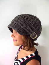 4T to Preteen Elephant Gray Buckle Newsboy Cap