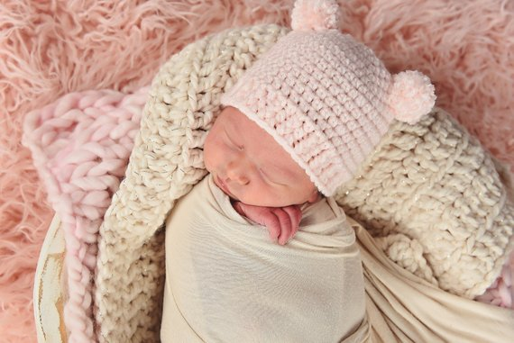 Cream Sparkle | newborn photo prop layering baby blanket, basket stuffer, bucket filler