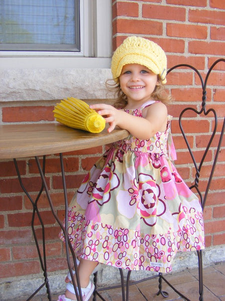 2T to 4T Yellow Buckle Newsboy Cap