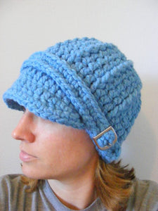 Adult Cornflower Blue Buckle Beanie by Two Seaside Babes