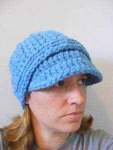 Adult Cornflower Blue Buckle Beanie