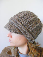 Adult Barn Wood Brown Buckle Beanie by Two Seaside Babes