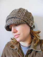 Adult Barn Wood Brown Buckle Beanie