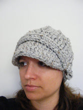 Adult Gray Marble Buckle Beanie