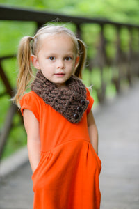 1T to 4T Toddler Dark Brown Wood Button Scarf