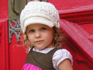 2T to 4T Ecru Buckle Newsboy Cap by Two Seaside Babes