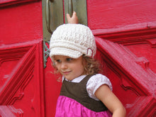 2T to 4T Ecru Buckle Newsboy Cap