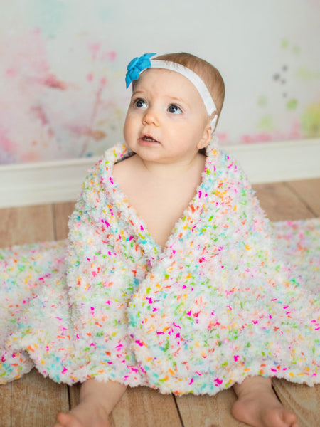 "33"" x 33"" Confetti Cotton Candy Baby Blanket by Two Seaside Babes"