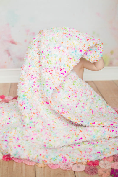 "33"" x 33"" Confetti Cotton Candy Baby Blanket"