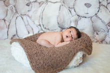 "17"" x 17"" Teddy Bear Brown Terry Cloth Baby Blanket"