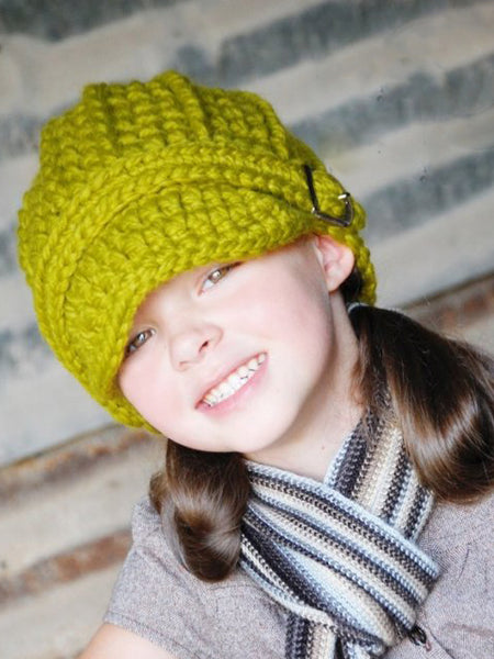 4T to Preteen Kids Lemongrass Buckle Beanie by Two Seaside Babes
