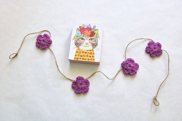 39 colors Spring & Easter flower farmhouse garland - orchid