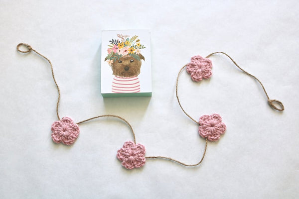 39 colors Spring & Easter flower farmhouse garland - rose pink