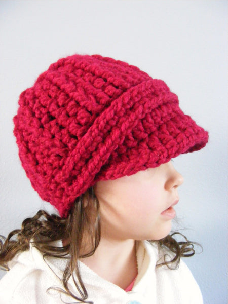 2T to 4T Toddler Cranberry Red Buckle Beanie