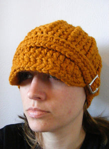 Adult Butterscotch Buckle Beanie