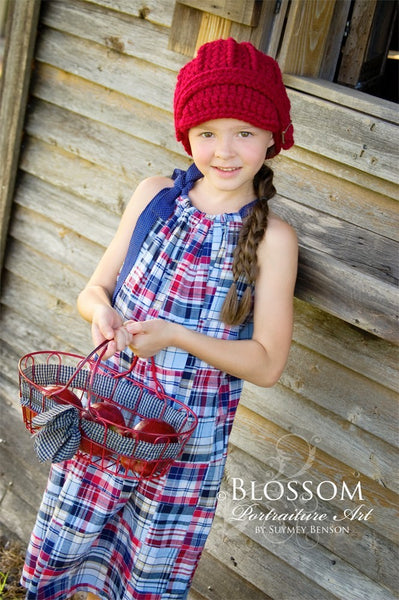 4T to Preteen Kids Cranberry Red Buckle Beanie