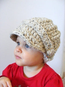 1T to 2T Toddler Oatmeal Buckle Beanie