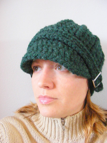 Evergreen pine buckle beanie winter hat