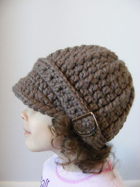 2T to 4T Toddler Taupe Buckle Beanie