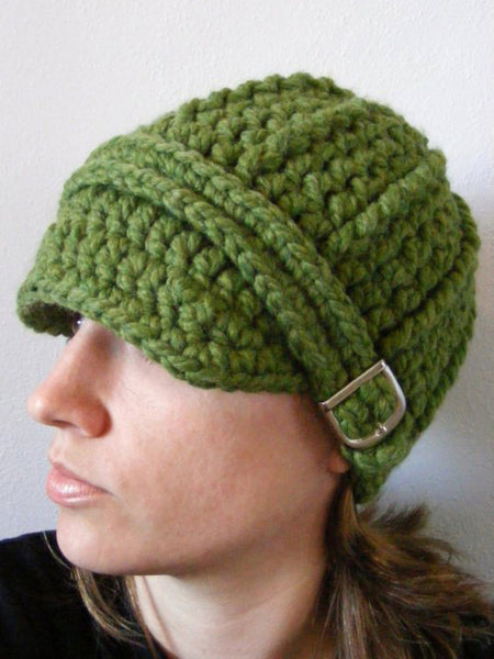 Adult Green Grass Buckle Beanie by Two Seaside Babes